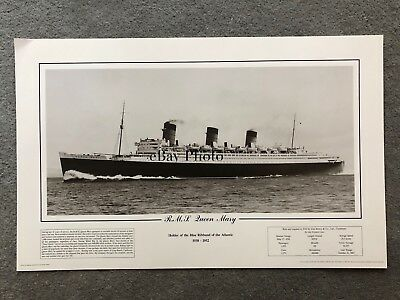 RMS Queen Mary Photo Poster / Cunard White Star
