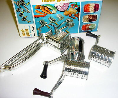 Vintage ReTRo France Mouli-Grater 3 Drums in Box NOS NEW NIB