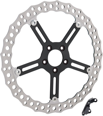 Arlen Ness Big Brake Floating Front Rotor 15 in. Polished Left 02-990