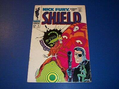 Nick Fury Agent of Shield #5 Silver Age Steranko Great Cover VG+
