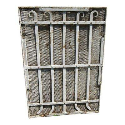 Antique Victorian Iron Gate Window Garden Fence Architectural Salvage Door #642