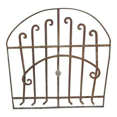 Antique Victorian Iron Gate Window Garden Fence Architectural Salvage Door #141