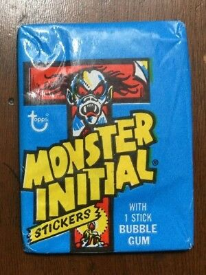 1974 Topps Monster Initial Unopened Pack