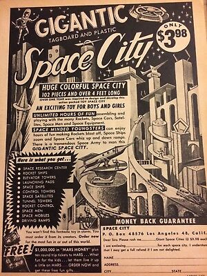 Space City Playset, Full Page Vintage Print Ad