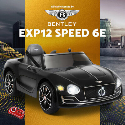 Bentley Kids Ride On Car Licensed Electric Toys 12V Battery Remote Cars Black