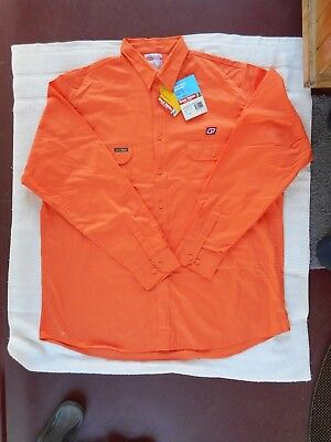 QR  Queensland Rail Orange  Long sleeved  Shirt  - Size 2XOS Brand new with tags