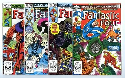 Fantastic Four #246,247,248,249 Avg NM- New Marvel Bronze Copper Collection