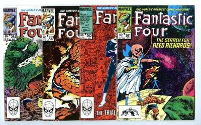 Fantastic Four #261,262,263,264 Avg NM New Marvel Bronze Copper Collection