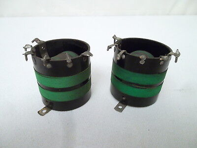 1920's BATTERY RADIO VARIABLE RF COUPLING COIL PAIR