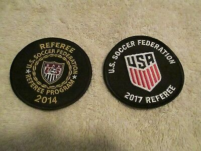 2014 and 2017 u s soccer federation referee patches