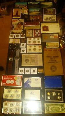 BIG coin LOT collection $2 RED SEAL MINT sets 90% SILVER BANK BAG+NO JUNK DRAWER