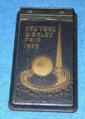1939 NEW YORK WORLD'S FAIR Address Memo Book * Trylon & Perisphere