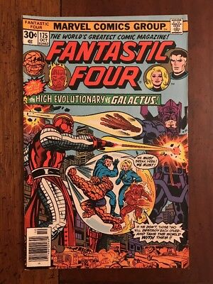Marvel Comics Fantastic Four #175 Bronze Age 1976 High Evolutionary Galactus