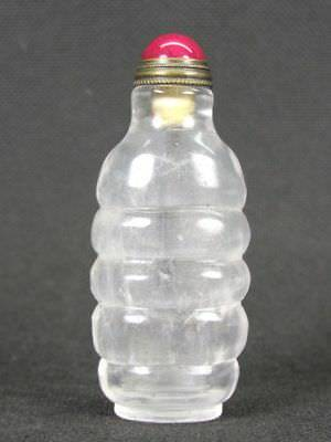 Chinese Natural Crystal Quartz Snuff Bottle