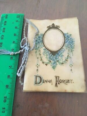 "Antique Christmas Card 1912. ""Dinna Forget"" 9 cm."
