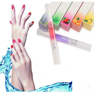 HOT Fruit Scent Cuticle Revitalizer Oil Pen Nail Art Care Tip Treatment Manicure