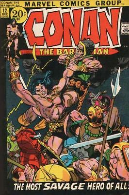 CONAN THE BARBARIAN #12 F, Barry Smith A, Marvel Comics 1971 Stock Image
