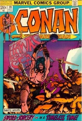 CONAN THE BARBARIAN #19 VG/F, Barry Smith A, Marvel Comics 1972 Stock Image