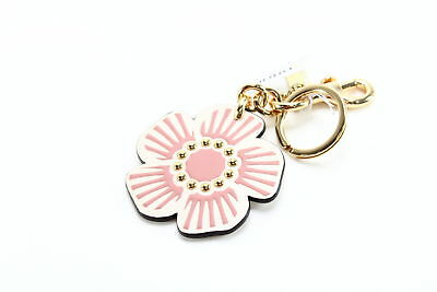Coach NEW Pink White Gold Boxed Willow Floral Handbag Purse Key Charm $45 #068