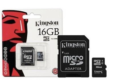 16GB Kingston Canvas Select Micro SD Memory Card 80MB/s UHS-1 Class 4 +ADAPTER