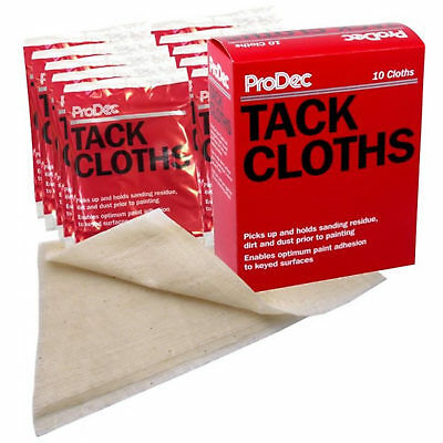 10 x Prodec Trade Tack Cloths Cleaning Paint Wood Sanding Dust Prior to Painting