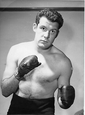 DAVE RENT 8x6in original BOXING press photo 9th March 1963