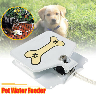 Automatic Doggie Water Fountain Dog Pet Drinking Sprinkler Dispenser Paw Step