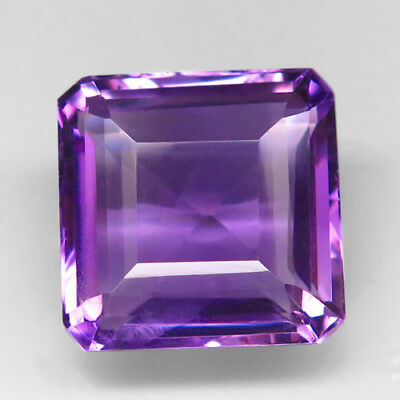 15.24ct.Superior Luster! Natural Rich Purple Amethyst Unheated Uruguay AAA Nr!