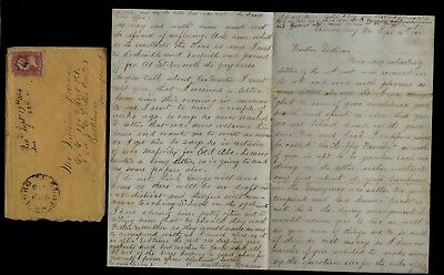 186th Pennsylvania Infantry CIVIL WAR LETTER - Great Letter from Bloomsburg, PA!