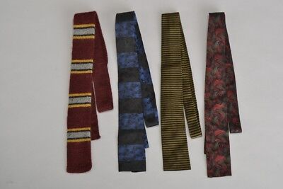Hardy Amis, Christian Dior & Heathernit 1960s' Square End Neck Ties. Ref FXA