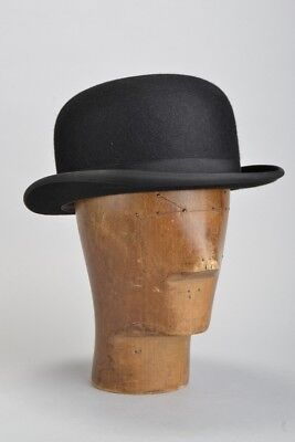 Gentleman's 1960s' Quality Lightweight s7 1/4 London Made Bowler Hat. Ref ITA