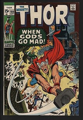 Thor #180 Neal Adams Artwork! Stunniing! Lovely 9.2 Glossy Cents White Pages