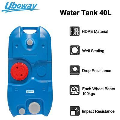 40L Portable Water Tank with Wheels Durable Heavy Duty Camp High Quality