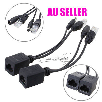5 pairs Power Over Ethernet Passive POE Injector Splitter Adapter Cable Kit