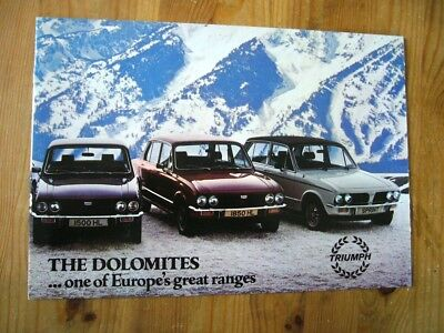 Triumph Dolomite range brochure, 1978, near-mint condition