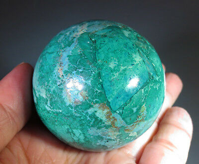 48mm Natural Chrysocolla with Malachite CRYSTAL Gemstone Sphere Ball *7211