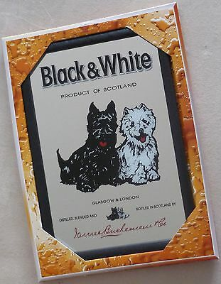 Black & White Spiegel 22x32cm Mirror especho Scotch Terrier Whisky Hund Whiskey