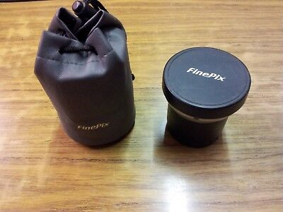 Fuji Finepix 0.79x wide angle lens + adaptor ring + storage bag.