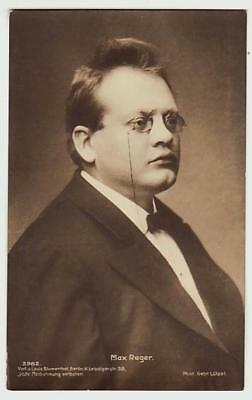 REAL PHOTO POSTCARD MAX REGER GERMAN COMPOSER CONDUCTOR PIANST c1910