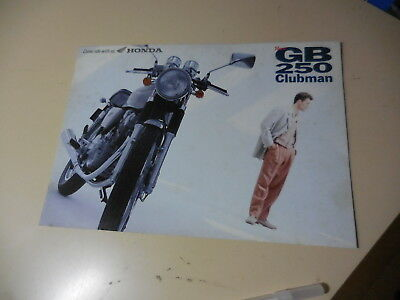 Honda GB250 CLUBMAN Japanese Brochure 1993/03 MC10