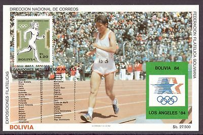Bolivien MiNr. Block 143 postfrisch/ MNH Olympia 1984 Los Angeles (Oly1120
