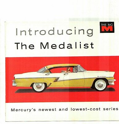 1956 Mercury Medalist Factory Issued Color Sales Brochure