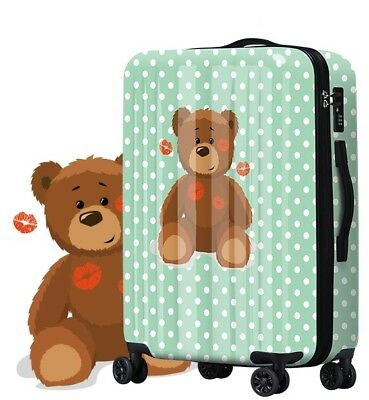 A117 New Lip Bear Universal Wheel Traveling Suitcase Luggage 24 Inches W