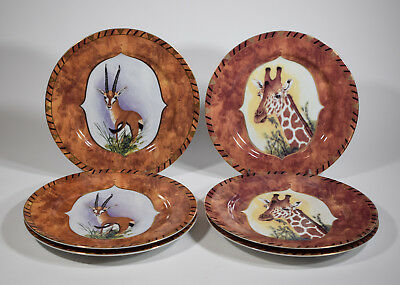 Lynn Chase 6 Chase African Portraits Dinner Plates