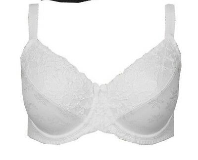 Brand New Ex M/&S Jacquard Lace Non-Padded Full Cup Bra Sizes 34-44 DD-H Almond