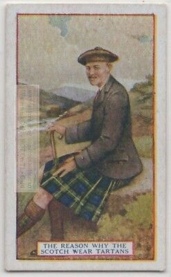Tartans Scottish Highlander Badge Dress  90+  Y/O Trade Ad Card