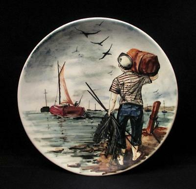 Signed Australian Pottery Martin Boyd Hand Painted Large Wall Plate