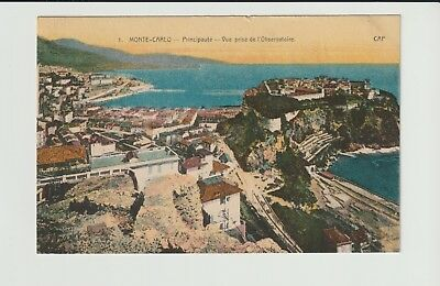 Monaco Stamps Picture Postcard 1925 Observatory Rare Postal History Collection