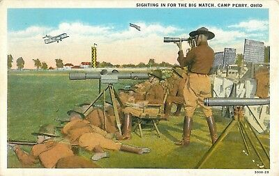 "WW1 Era ""Sighting In For the Big Match, Camp Perry, Ohio Postcard"