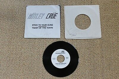 Original Motley Crue Stick To Your Guns / Toast Of The Town Signed By Vince Neil